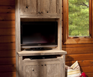 Paint and Barn Board Cabinetry in a beautifully ...