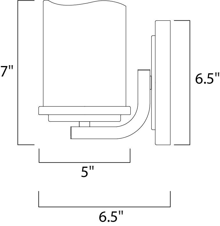 Maxim Luminous Wall Sconce Model: 21141SCRE Line Drawing