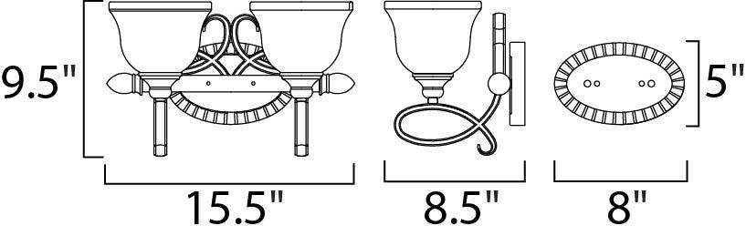 Maxim Infinity Bath Vanity Model: 21312WSOI Line Drawing