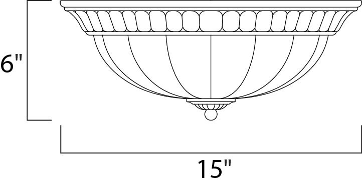 Maxim Fremont Flush Mount Model: 22240WSPD Line Drawing