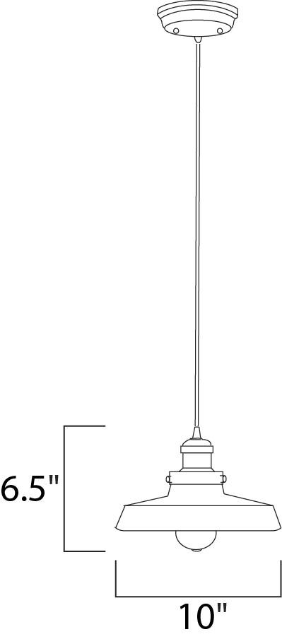 Maxim Mini Hi-bay Mini Hi Bay Single Pendant Model: 25027MSKSN Line Drawing
