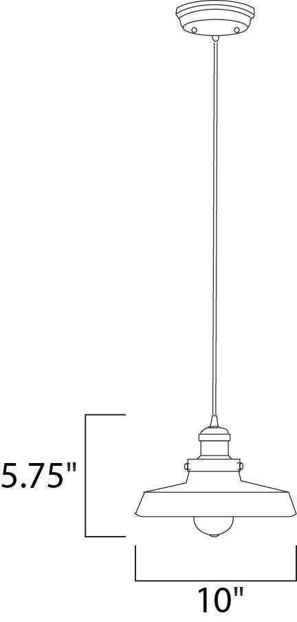 Maxim Mini Hi-bay Mini Hi Bay Single Pendant Model: 25047MSKACP Line Drawing