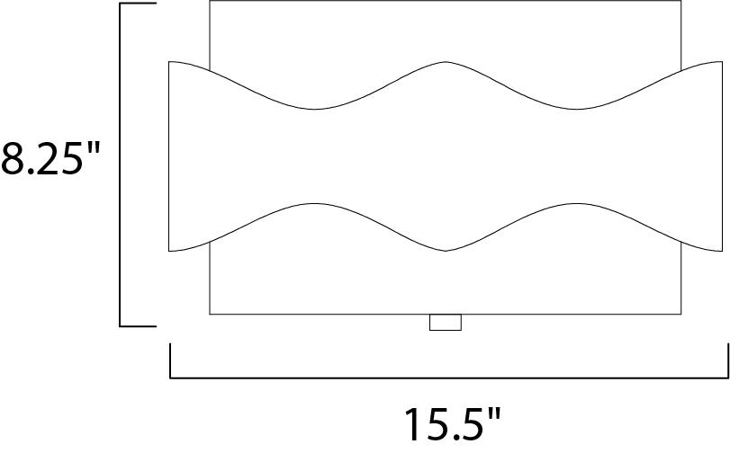 Maxim Flow Flush Mount Model: 38390BZGTGLD Line Drawing