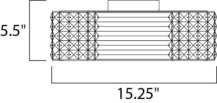 Maxim Manhattan Flush Mount Model: 39780BCPC Line Drawing