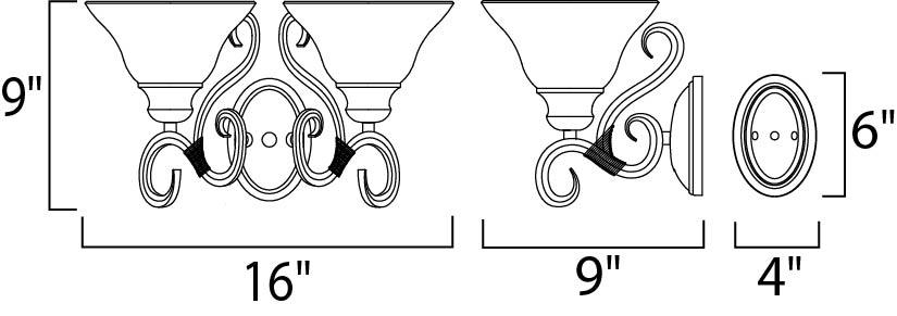 Maxim Pacific Bath Vanity Model: 8020MRKB Line Drawing