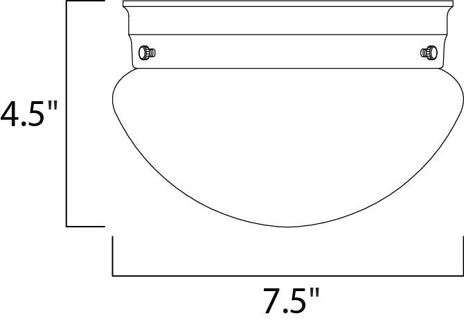 Maxim Utility Ee Flush Mount Model: 85880WTWT Line Drawing