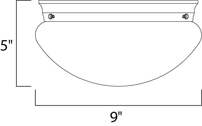 Maxim Utility Ee Flush Mount Model: 85881WTWT Line Drawing
