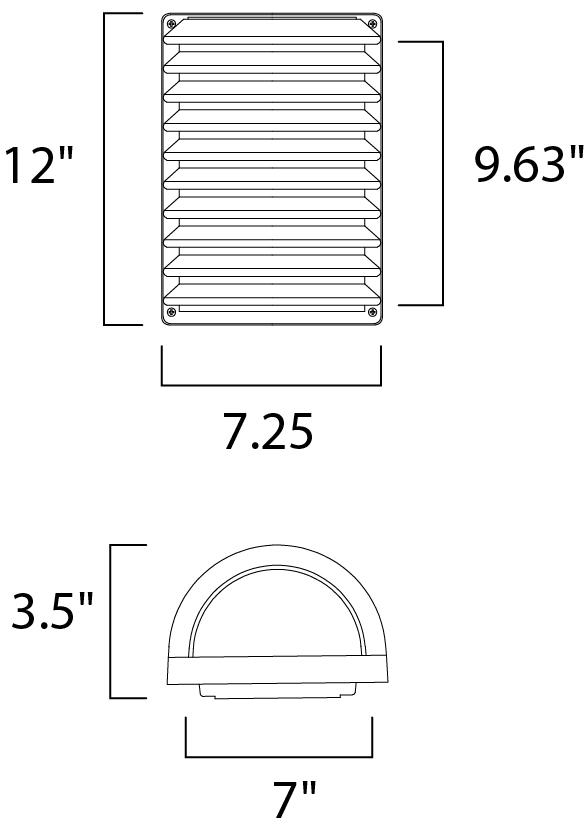 Maxim Zenith Ee Outdoor Wall Mount Model: 86222WTABZ Line Drawing