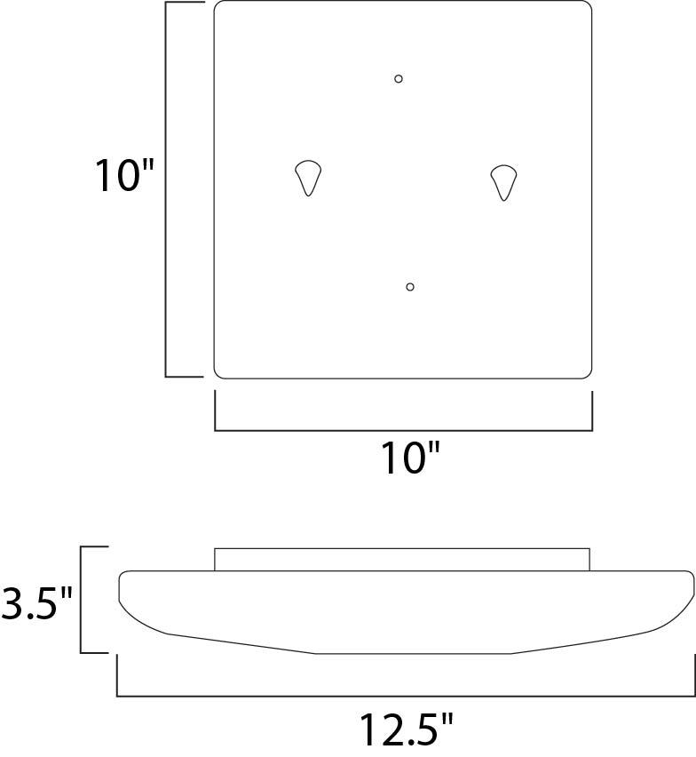 Maxim Low Profile Ee Flush Mount Model: 87205WT Line Drawing