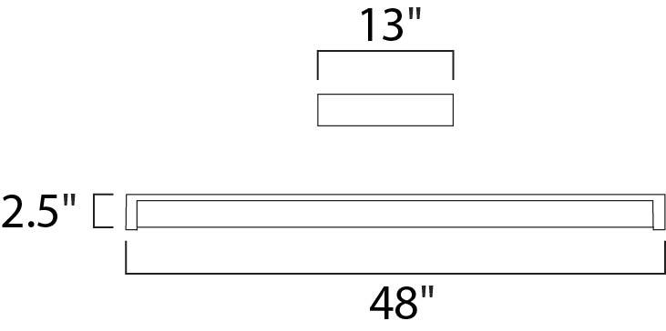 Maxim Wrap Around Ee Flush Mount Model: 87522WT Line Drawing