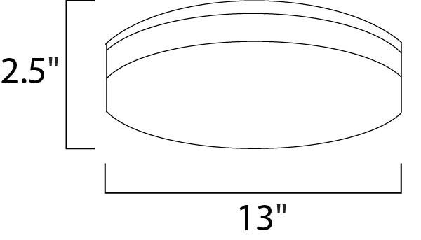 Maxim Profile Ee Flush Mount Model: 87584WTWT Line Drawing