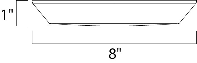 Maxim Convert Flush Mount Model: 87615WTBZ Line Drawing