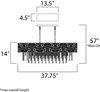 Maxim Rapture Linear Pendant Model: 22296WTSN Line Drawing
