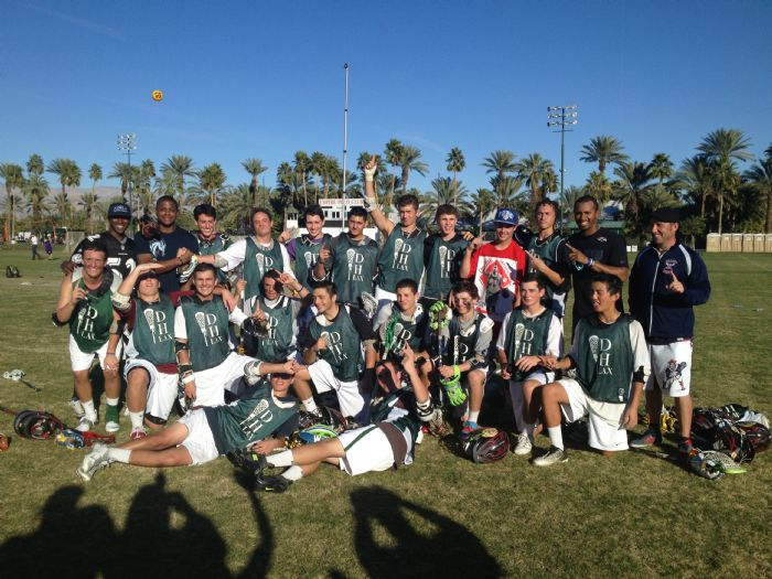Kyle Harrison coached the DH Lions to the 2012 Palm Desert Lacrosse Classic Championship