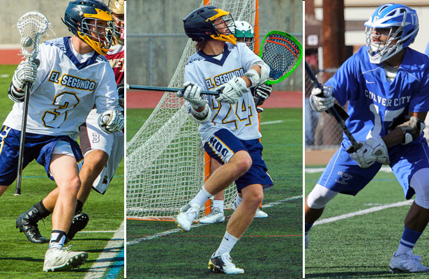 Preston Quashnick, Cory Lund and Anthony Overton, All-Ocean League