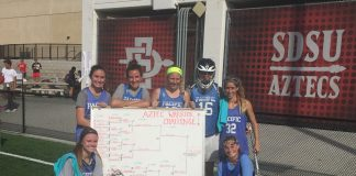 Erin DiBernardo and Quinnlynn Mason helped the Pacific Falcons to the Aztec Warrior Challege championship.