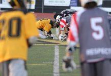 Tesoro boys lacrosse defeated Capo boys lacrosse 11-5 behind 5 Jason Moreta goals.
