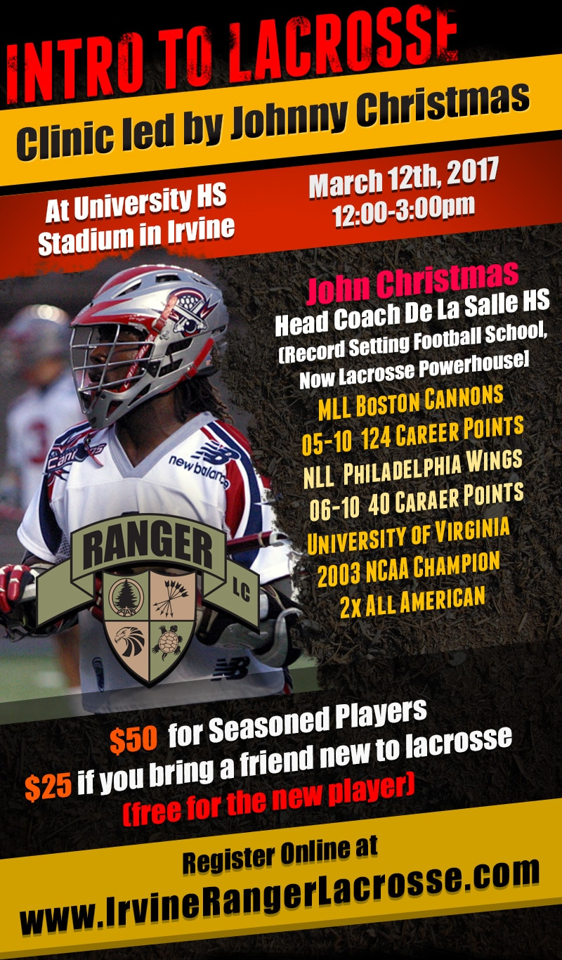 John Christmas Lacrosse.Intro To Lacrosse Clinic Scheduled For March 12 Maxlaxoc Com