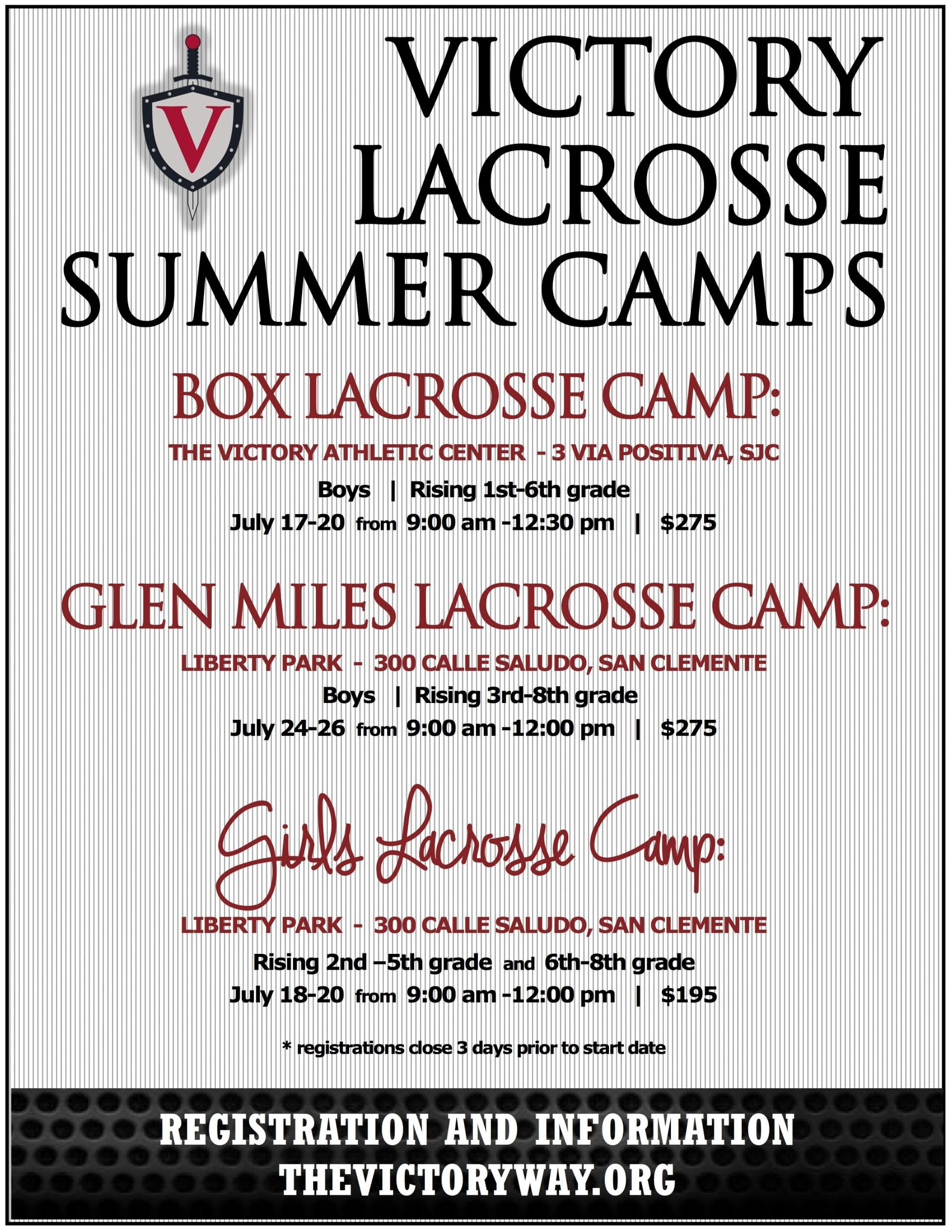 Victory Lacrosse Summer Camps