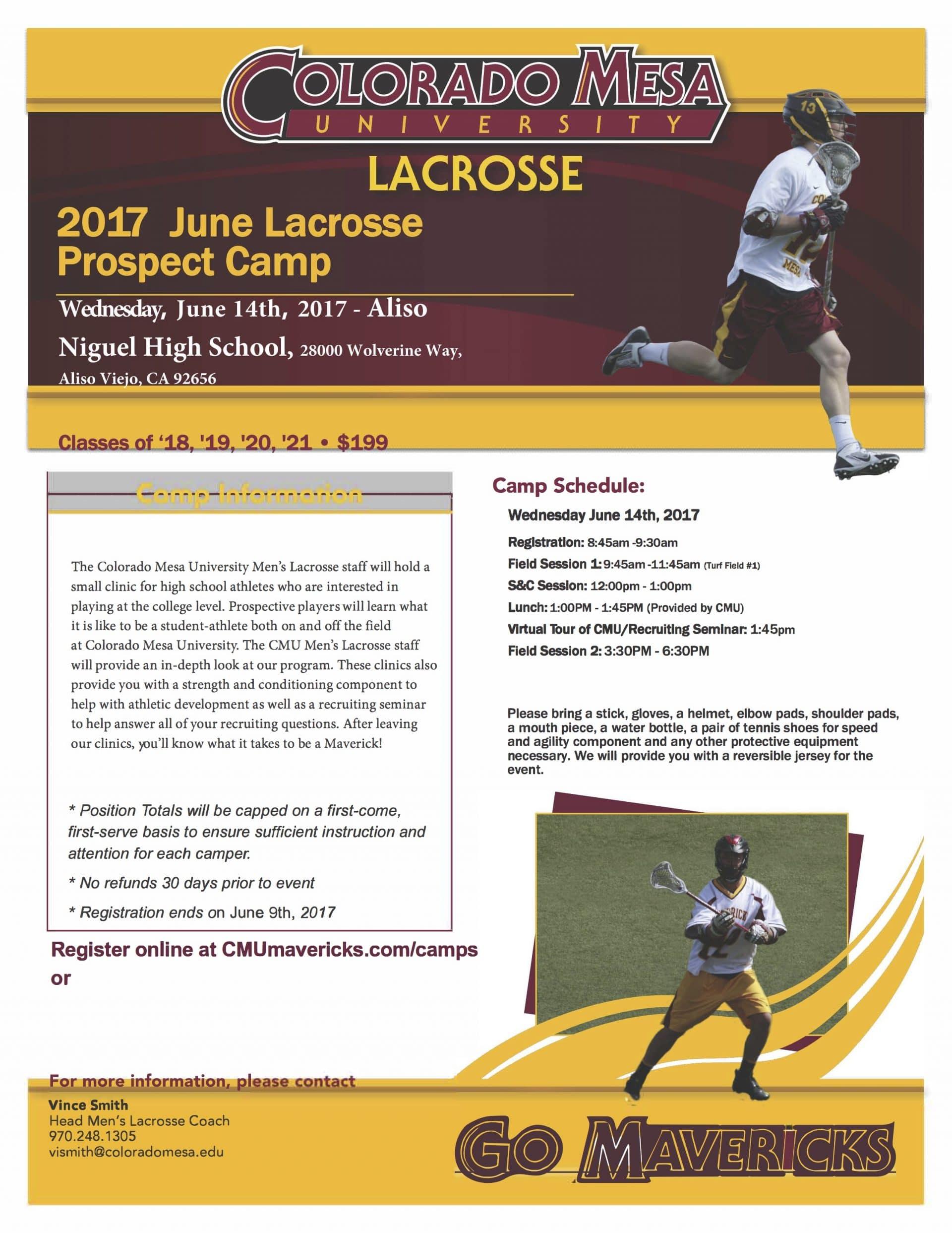Colorado Mesa Men's Lacrosse clinic