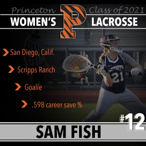 Sam Fish, Princeton Women's Lacrosse