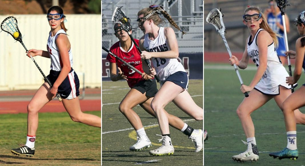 Molly Allen, Beckman; Cailin Young, St. Margaret's; Hennessey Evans, Trabuco Hills.