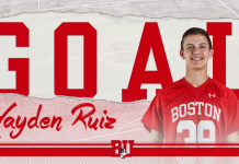 Hayden Ruiz Boston University Men's Lacrosse