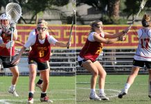 Gussie Johns, goalie; Lydia Sutton, defense