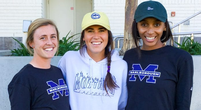 Marlborough coaches, Spring 2018: Maddy Morrissey, Meghan Toomey, Taylor Thornton
