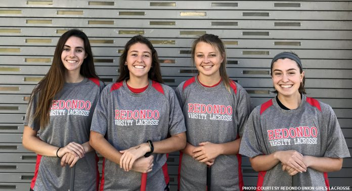 Redondo Union captains 2018: Senior Alison Shafer, senior Maddie Marcon, junior Emma Hodges and senior Lisa Diethelm.