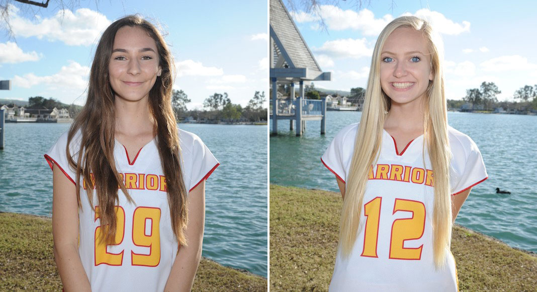 Jelena Pompay and Hope Hofseth are the Woodbridge Girls Lacrosse Captains for 2018.