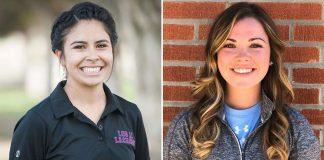 Los Alamitos Girls Lacrosse Coaches Fia Aragon and Courtney Novak