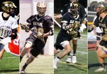 Oak Park captains 2018: Adam Julius, Bryce Hardy, Matt Robertson, Casey Hoops.