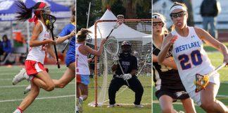Brooke Tokushige, Redondo Union; Isabel Lawrence, Royal; Shelby Tilton, Westlake