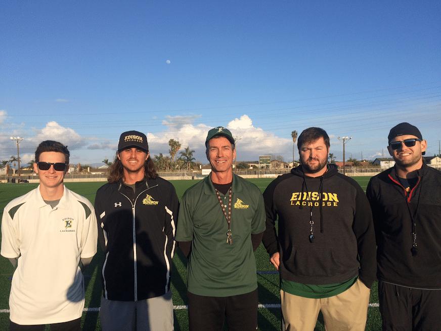 Edison boys' lacrosse coaches 2018