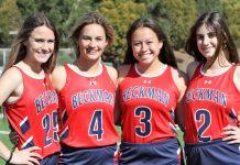 2018 Beckman girls' lacrosse captains