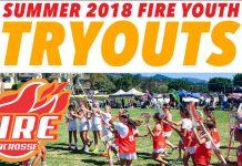 Fire Lacrosse Youth Summer Tryouts