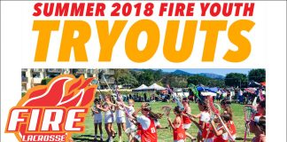Fire Lacrosse Youth Summer Tryouts