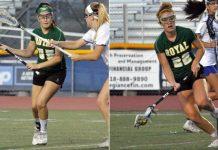 Megan Guardado and Holly Hall, Royal girls lacrosse