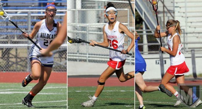 Women's National Tournament: Jackie Nuchow, West Ranch; Brooke Tokushige, Redondo; Emma Hodges, Redondo.