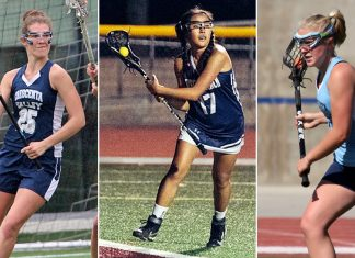 2018 All-Pacific League: Madeline Heeg, Crescenta Valley; Abi Jin, West Ranch; Kimberly Foster, Crescenta Valley