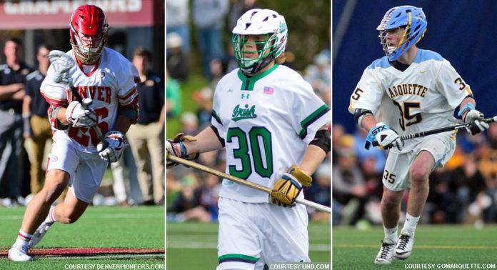 SoCal players: Ryan Harnisch, Denver; Hugh Crance, Notre Dame; Peter Henkhaus, Marquette