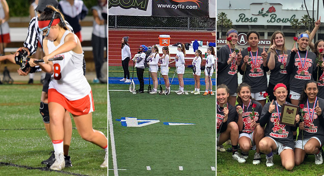 Redondo Union girls lacrosse, Westlake girls lacrosse, Palos Verdes girls lacrosse