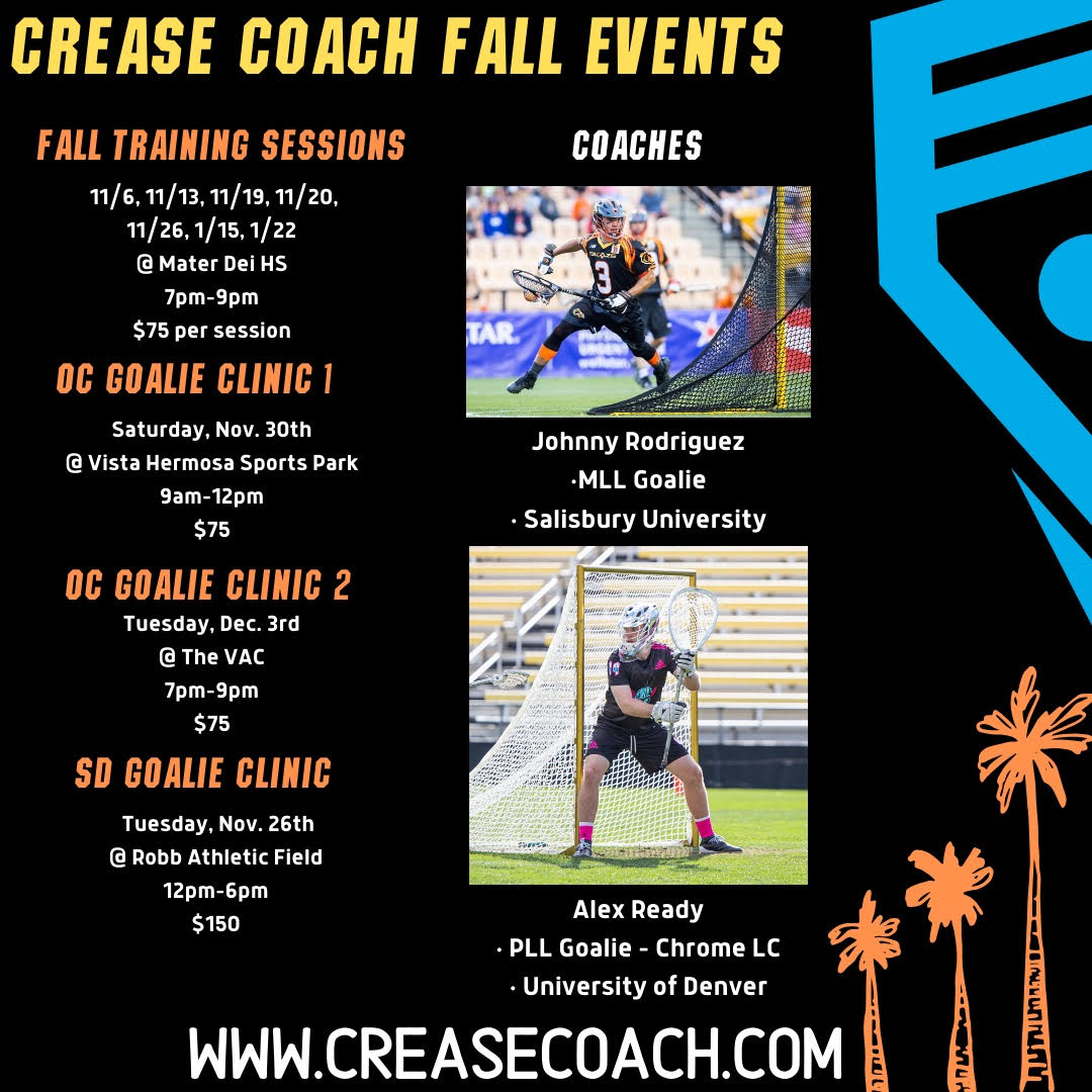 Crease Coach Fall Events 2019