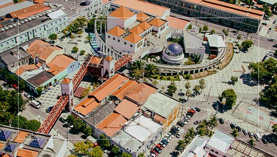 Vista aérea do Centro Cultural Dragão do Mar