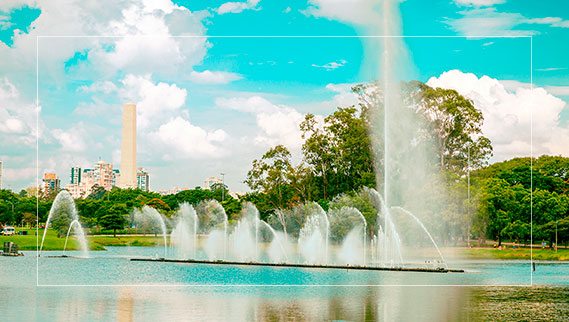 Fonte no Parque Ibirapuera