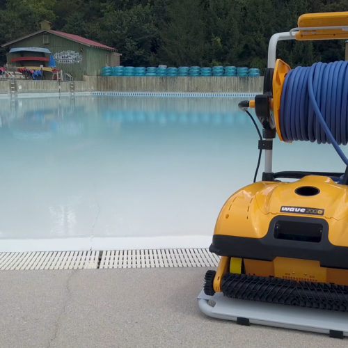 Dolphin Wave 200 Commercial Robotic Pool Cleaner Caddy
