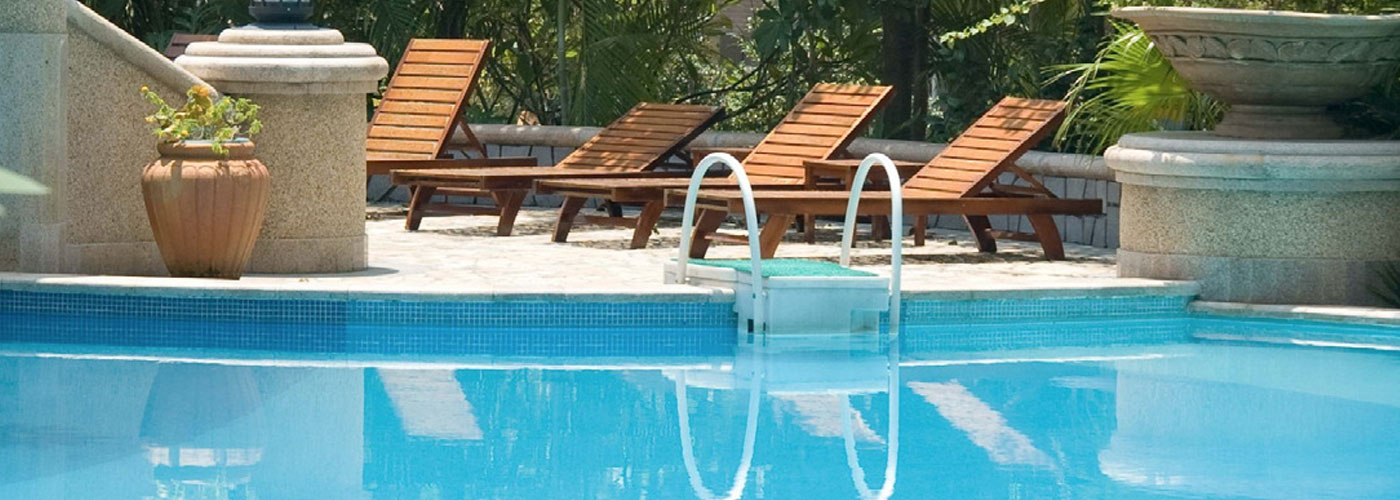 Swimming Pool with Chairs