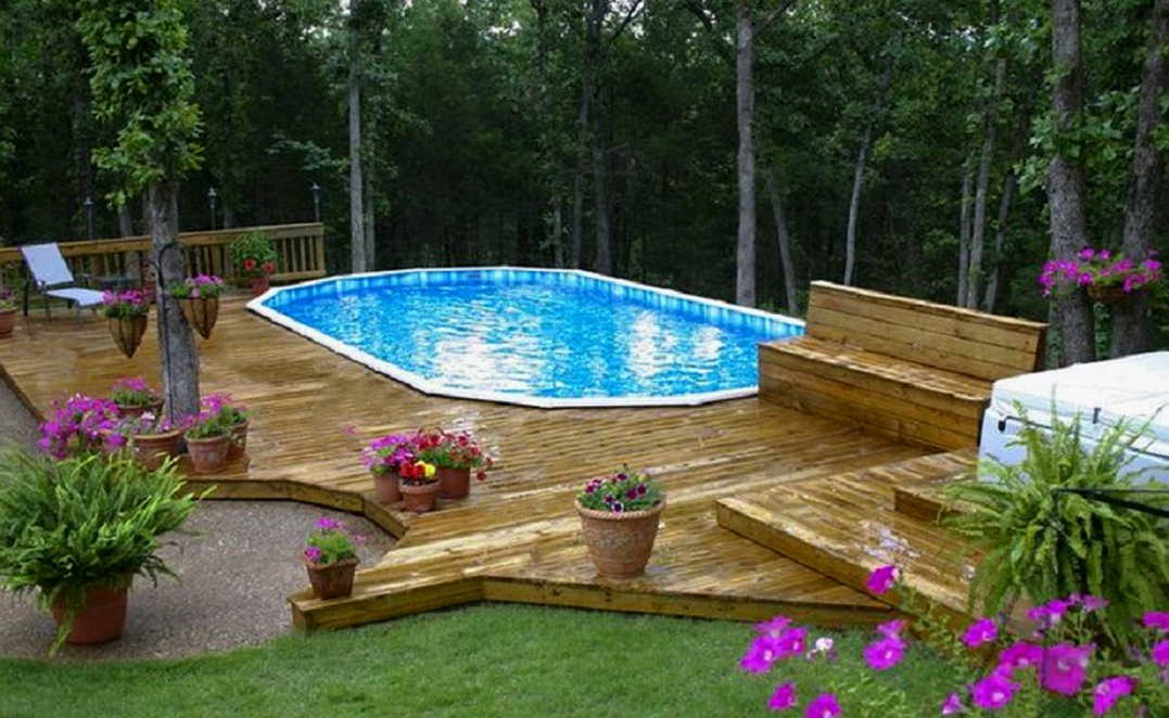Image of: Amazing Above Ground Pool Design Trends Maytronics