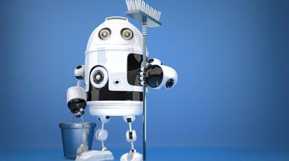 Robotic Cleaner Illustration